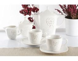 Serwis kawowy ROMANCIA na 6 osób (17 el.) -- biały
