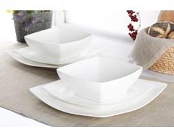 Serwis obiadowy BETA na 6 osób (18 el.) -- srebrny biały