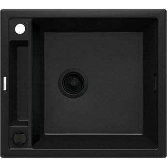 Deante Magnetic zlewozmywak granitowy magnetyczny 56x50 cm czarny mat ZRM N103