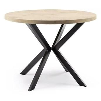 Stół okrągły Finland rozkładany w stylu loft do jadalni salonu