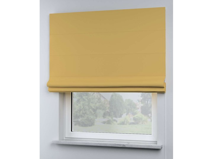 Roleta rzymska Billie, zgaszony żółty, szer.130 × dł.170 cm, Cotton Story Pomieszczenie Pokój przedszkolaka