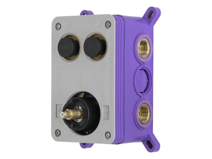 Prysznicowa bateria podtynkowa z przyciskami funkcyjnymi Corsan BT02BL Bateria prysznicowa Wykończenie Mosiądz Bateria ścienna Kolor Czarny