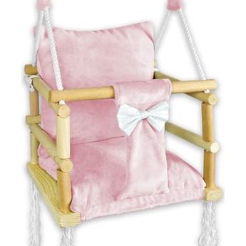 Różowa huśtawka dla dziewczynki 3w1- Nelax