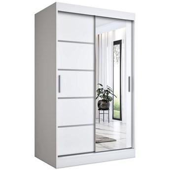 Biała szafa przesuwna z lustrem - Lorenza 3X