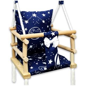Drewniana huśtawka dla dzieci kosmos - Norsa