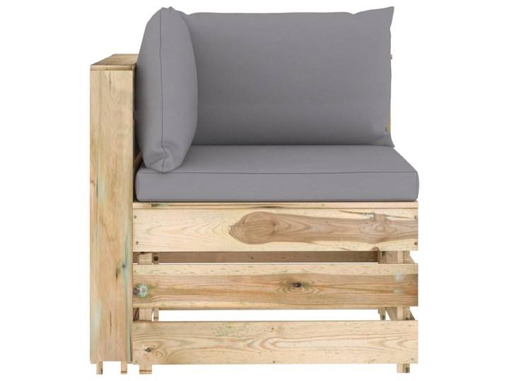 vidaXL 6-cz. zestaw wypoczynkowy do ogrodu, z poduszkami, drewniany Drewno Zestawy wypoczynkowe Zestawy modułowe Styl Rustykalny