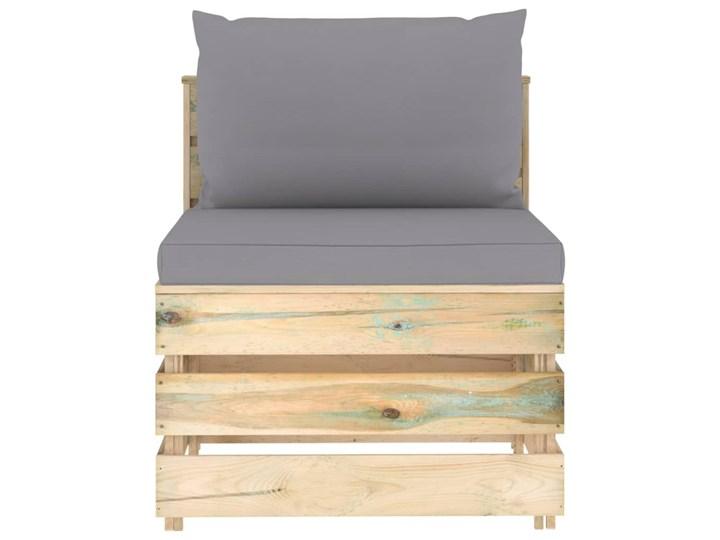 vidaXL 6-cz. zestaw wypoczynkowy do ogrodu, z poduszkami, drewniany Zestawy modułowe Zestawy wypoczynkowe Drewno Styl Rustykalny
