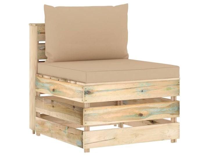 vidaXL 6-cz. zestaw wypoczynkowy do ogrodu, z poduszkami, drewniany Zestawy modułowe Drewno Zestawy wypoczynkowe Styl Rustykalny