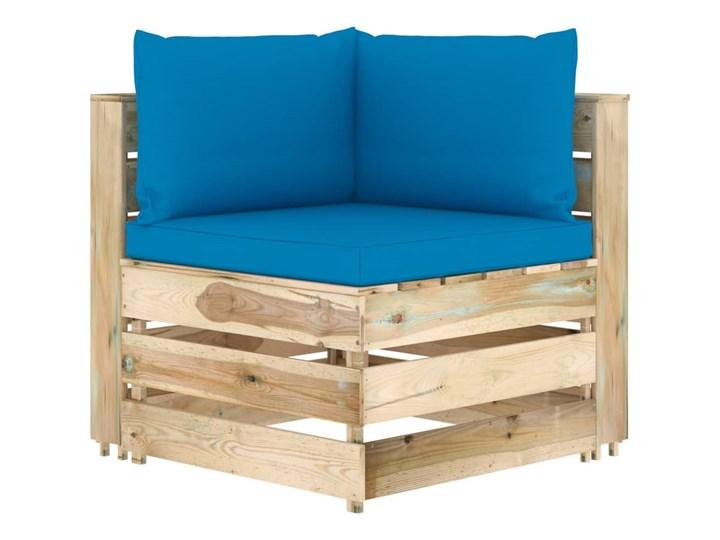 vidaXL 6-cz. zestaw wypoczynkowy do ogrodu, z poduszkami, drewniany Zestawy wypoczynkowe Zestawy modułowe Styl Rustykalny Drewno Kategoria Zestawy mebli ogrodowych