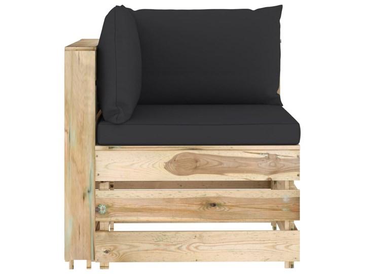 vidaXL 6-cz. zestaw wypoczynkowy do ogrodu, z poduszkami, drewniany Zestawy wypoczynkowe Zestawy modułowe Drewno Styl Rustykalny