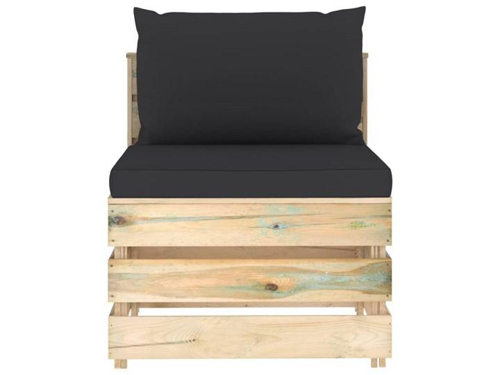 vidaXL 6-cz. zestaw wypoczynkowy do ogrodu, z poduszkami, drewniany Zestawy wypoczynkowe Styl Rustykalny Drewno Zestawy modułowe Kategoria Zestawy mebli ogrodowych