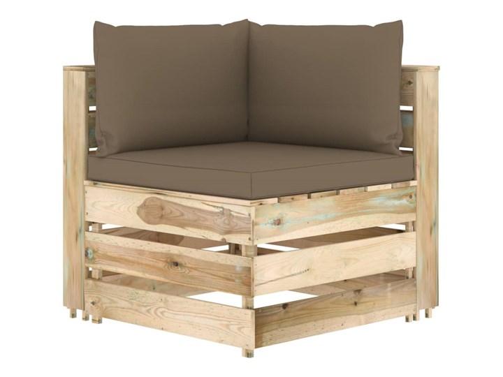 vidaXL 6-cz. zestaw wypoczynkowy do ogrodu, z poduszkami, drewniany Zestawy wypoczynkowe Zestawy modułowe Drewno Styl Rustykalny Kategoria Zestawy mebli ogrodowych