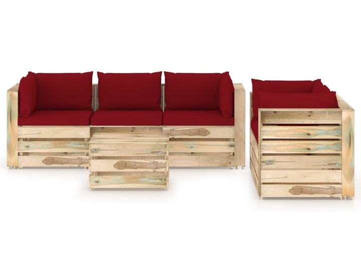 vidaXL 6-cz. zestaw wypoczynkowy do ogrodu, z poduszkami, drewniany Drewno Zestawy modułowe Zestawy wypoczynkowe Styl Rustykalny Kategoria Zestawy mebli ogrodowych