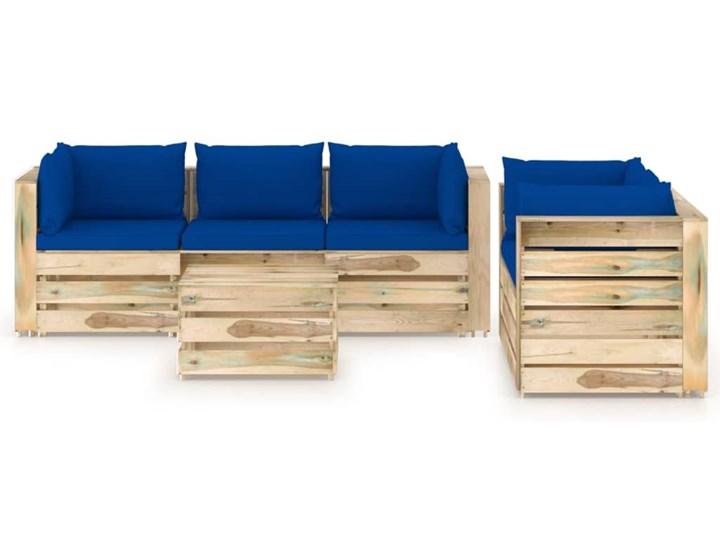 vidaXL 6-cz. zestaw wypoczynkowy do ogrodu, z poduszkami, drewniany Zestawy modułowe Drewno Styl Rustykalny Zestawy wypoczynkowe Kategoria Zestawy mebli ogrodowych