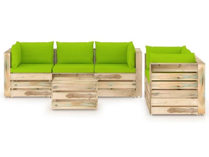 vidaXL 6-cz. zestaw wypoczynkowy do ogrodu, z poduszkami, drewniany Styl Rustykalny Zestawy modułowe Drewno Zestawy wypoczynkowe Kategoria Zestawy mebli ogrodowych