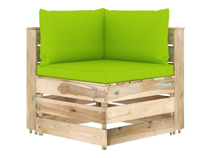 vidaXL 6-cz. zestaw wypoczynkowy do ogrodu, z poduszkami, drewniany Zestawy wypoczynkowe Drewno Zestawy modułowe Styl Rustykalny