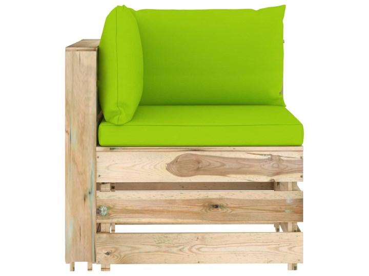 vidaXL 6-cz. zestaw wypoczynkowy do ogrodu, z poduszkami, drewniany Drewno Zestawy modułowe Zestawy wypoczynkowe Styl Rustykalny