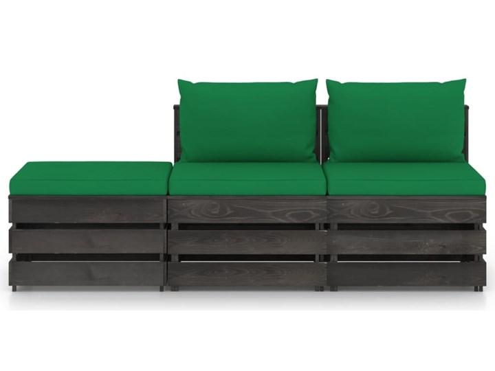 vidaXL 3-cz. zestaw wypoczynkowy do ogrodu, z poduszkami, drewniany Zestawy modułowe Drewno Styl Rustykalny Zestawy wypoczynkowe Kategoria Zestawy mebli ogrodowych