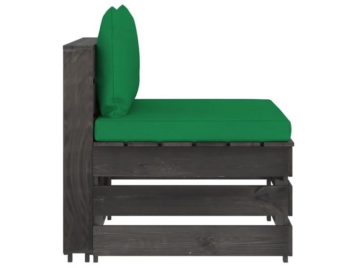 vidaXL 3-cz. zestaw wypoczynkowy do ogrodu, z poduszkami, drewniany Styl Rustykalny Zestawy wypoczynkowe Drewno Zestawy modułowe Kategoria Zestawy mebli ogrodowych