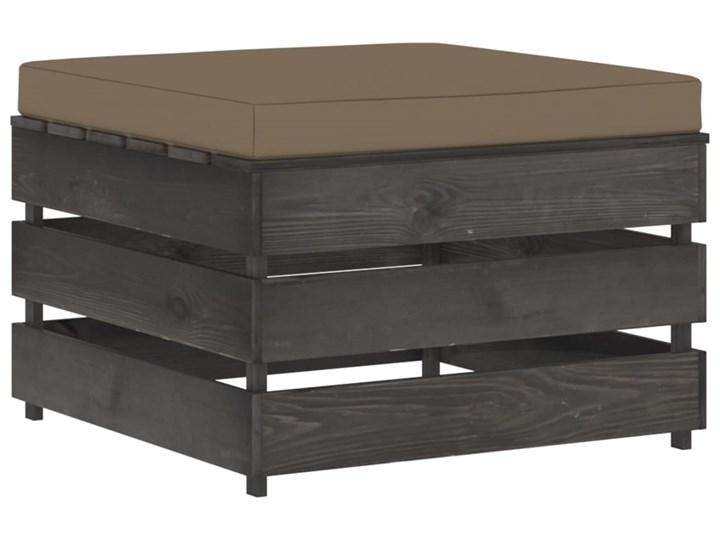 vidaXL 3-cz. zestaw wypoczynkowy do ogrodu, z poduszkami, drewniany Zestawy modułowe Zestawy wypoczynkowe Drewno Styl Rustykalny