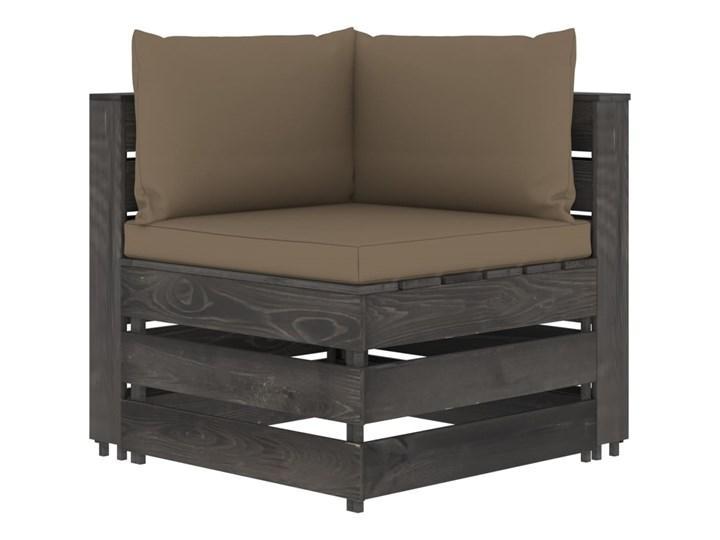 vidaXL 3-cz. zestaw wypoczynkowy do ogrodu, z poduszkami, drewniany Zestawy modułowe Styl Rustykalny Drewno Zestawy wypoczynkowe Kategoria Zestawy mebli ogrodowych