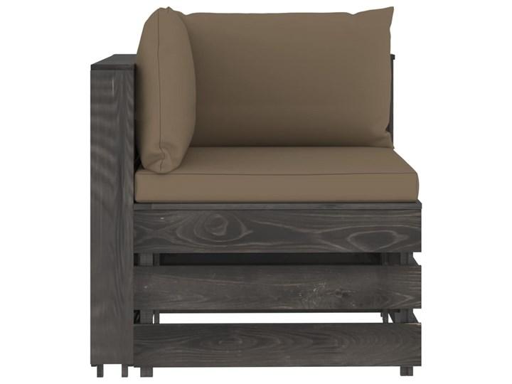 vidaXL 3-cz. zestaw wypoczynkowy do ogrodu, z poduszkami, drewniany Zestawy modułowe Zestawy wypoczynkowe Styl Rustykalny Drewno Kategoria Zestawy mebli ogrodowych