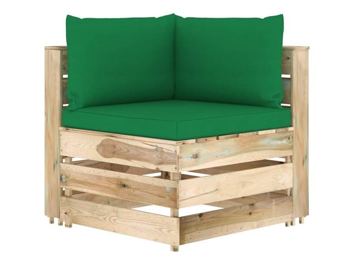 vidaXL 7-cz. zestaw wypoczynkowy do ogrodu, z poduszkami, drewniany Styl Rustykalny Zestawy wypoczynkowe Zestawy modułowe Drewno Kategoria Zestawy mebli ogrodowych
