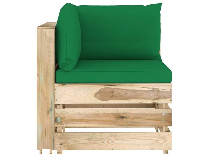 vidaXL 7-cz. zestaw wypoczynkowy do ogrodu, z poduszkami, drewniany Zestawy wypoczynkowe Drewno Styl Rustykalny Zestawy modułowe Kategoria Zestawy mebli ogrodowych