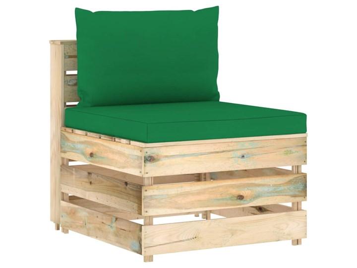 vidaXL 7-cz. zestaw wypoczynkowy do ogrodu, z poduszkami, drewniany Zestawy modułowe Zestawy wypoczynkowe Drewno Styl Rustykalny
