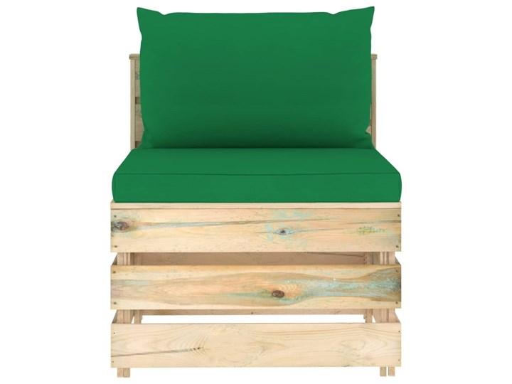 vidaXL 7-cz. zestaw wypoczynkowy do ogrodu, z poduszkami, drewniany Zestawy wypoczynkowe Zestawy modułowe Drewno Styl Rustykalny
