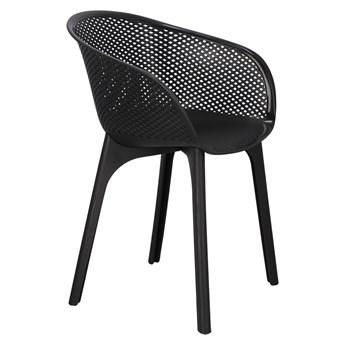 Krzesło ogrodowe Dacun czarne