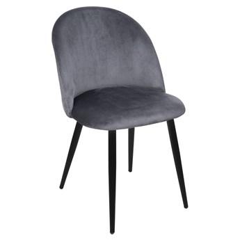 Krzesło Welurowe FOGGIE GRAFITOWE