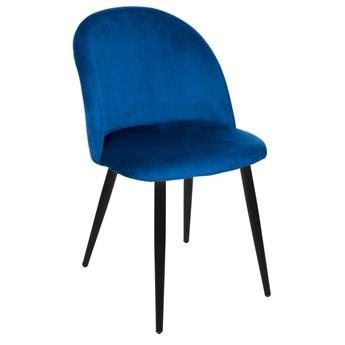 Krzesło Welurowe FOGGIE GRANATOWE