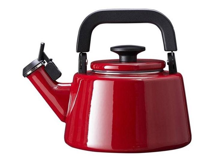Czajnik emaliowany Forchetto Moderno Rosso 2,1l czerwony Ze stali nierdzewnej Pojemność 2,1 l Pojemność 1,6 l
