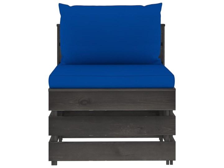 vidaXL 3-cz. zestaw wypoczynkowy do ogrodu, z poduszkami, drewniany Zestawy wypoczynkowe Drewno Zestawy modułowe Styl Rustykalny