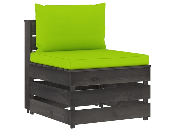 vidaXL 3-cz. zestaw wypoczynkowy do ogrodu, z poduszkami, drewniany Zestawy wypoczynkowe Zestawy modułowe Drewno Styl Rustykalny