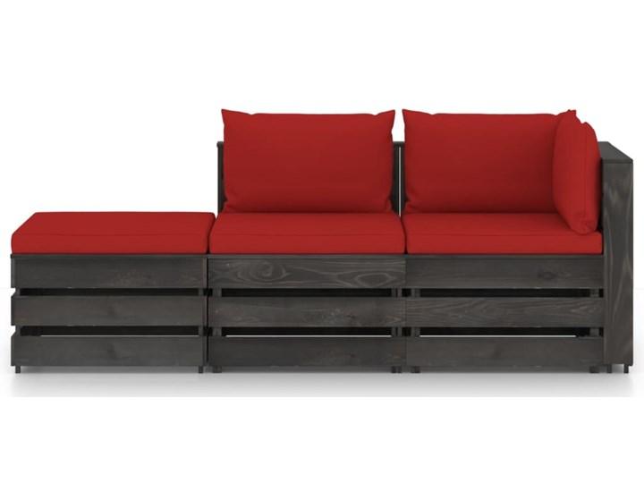 vidaXL 3-cz. zestaw wypoczynkowy do ogrodu, z poduszkami, drewniany Zestawy modułowe Styl Rustykalny Zestawy wypoczynkowe Drewno Kategoria Zestawy mebli ogrodowych