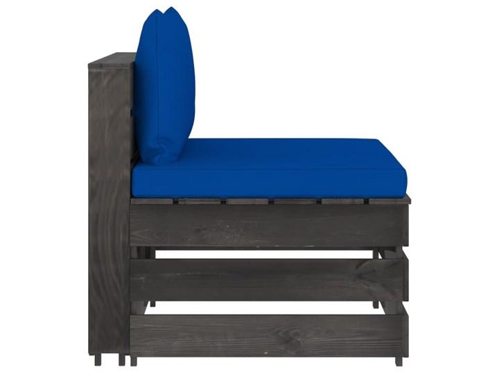 vidaXL 3-cz. zestaw wypoczynkowy do ogrodu, z poduszkami, drewniany Drewno Zestawy wypoczynkowe Zestawy modułowe Styl Rustykalny