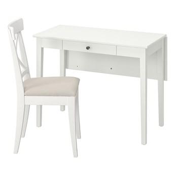 IKEA IDANÄS / INGOLF Stół i 1 krzesło, biały/Hallarp beżowy