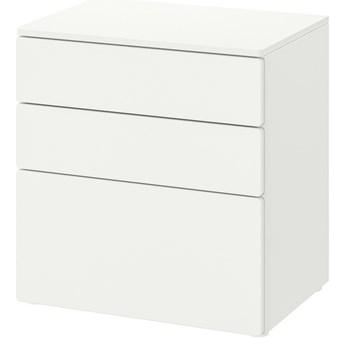 IKEA SMÅSTAD / PLATSA Komoda, 3 szuflady, Biały/biały, 60x42x63 cm