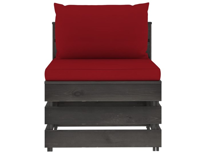 vidaXL 3-cz. zestaw wypoczynkowy do ogrodu, z poduszkami, drewniany Zestawy wypoczynkowe Drewno Zestawy modułowe Styl Rustykalny Kategoria Zestawy mebli ogrodowych