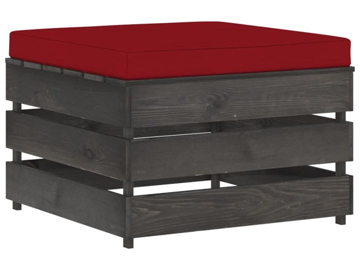 vidaXL 3-cz. zestaw wypoczynkowy do ogrodu, z poduszkami, drewniany Drewno Zestawy wypoczynkowe Styl Rustykalny Zestawy modułowe Kategoria Zestawy mebli ogrodowych