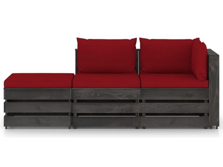 vidaXL 3-cz. zestaw wypoczynkowy do ogrodu, z poduszkami, drewniany Drewno Zestawy wypoczynkowe Zestawy modułowe Styl Rustykalny Kategoria Zestawy mebli ogrodowych