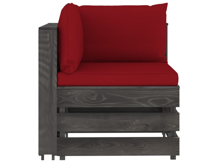 vidaXL 3-cz. zestaw wypoczynkowy do ogrodu, z poduszkami, drewniany Zestawy modułowe Drewno Zestawy wypoczynkowe Styl Rustykalny