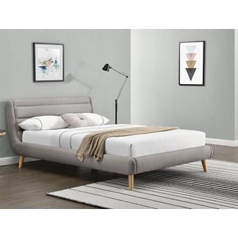 Tapicerowane łóżko sypialniane z zagłówkiem Elanda 180