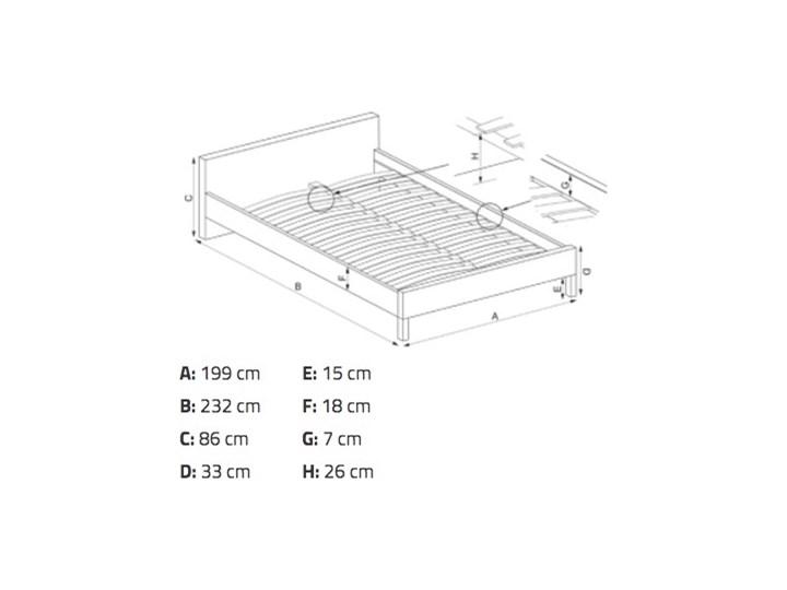 Tapicerowane łóżko sypialniane z zagłówkiem Elanda 180 Kategoria Łóżka do sypialni Łóżko tapicerowane Kolor Szary