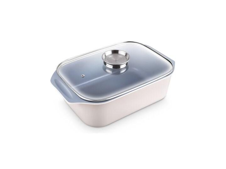 Brytfanna LAMART HL0803 Aroma Naczynie z pokrywką Garnek rzymski Ceramika Naczynie do zapiekania Kolor Biały Aluminium Kategoria Naczynia do zapiekania