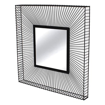Lustro Giness druciana czarna rama 3D 65/65