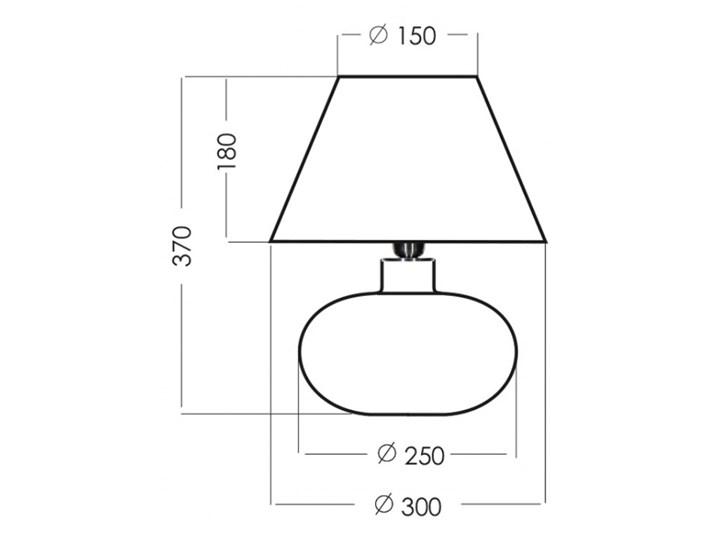 Lampa stołowa BERGEN BLACK L007252110 4concepts L007252110 | SPRAWDŹ RABAT W KOSZYKU ! Lampa z kloszem Styl Nowoczesny