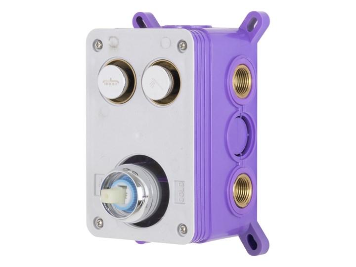Prysznicowa bateria podtynkowa z przyciskami funkcyjnymi Corsan BM02BL Bateria ścienna Kolor Czarny Bateria prysznicowa Kategoria Baterie łazienkowe